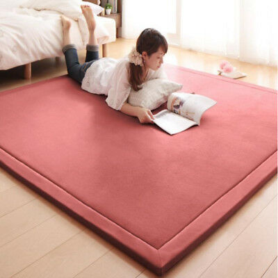 TATAMI AREA RUG Living Room Bedroom Rectangle Carpet Soft Coral ...