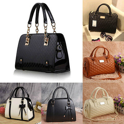 Women Leather Handbag Shoulder Bag Ladies Purse Tote Messenger Satchel Crossbody