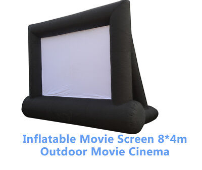 Oxford Cloth Airblown Inflatable Movie Screen 8*4m Outdoor Movie Cinema New