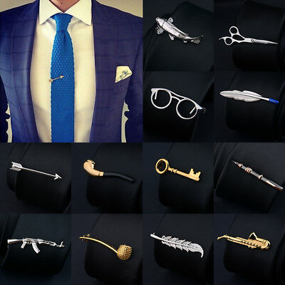 Fashion Tie Clip Necktie Mens Clasp Bar Pin Party Wedding Skinny Ties Clamp Gift