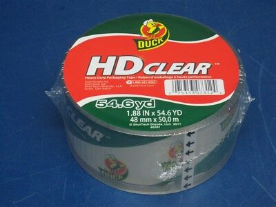 """Case of 12 - Duck HD Clear Packaging Packing Tape 1.88"""" X 54.6 yds. FREE SHIP"""