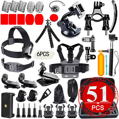 All in 1 Accessories Pack Head Chest Monopod Bike Mount for GoPro HD Hero 5 4 3