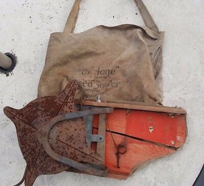 Cyclone Seed Sower  with bag and shoulder strap Urbana Indiana