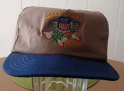 Rare Vtg Union Pacific East Texas Service Unit Employee Hat Cap Made In USA