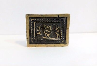 Mold Die Brass Bronze Indian Hindu God Figure Jewelry Antique Hand Carved Rare