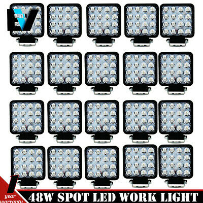 20PCS 48W Cree LED WORK LIGHT FOG SPOT BEAM LAMP OFFROAD TRUCK 12V SUV UTE ATV