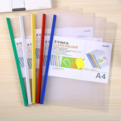 5Pcs A4 Size Sliding Bar File Folder Storage Documents Paper Office Supplies New