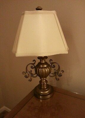 Stunning Solid Brass Table Lamp New in Box by Decorative Arts , Shade Included