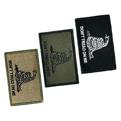 """Snake """"DON'T TREAD ON ME"""" Modern Military Tactical Patch Tape Army Morale Badge"""