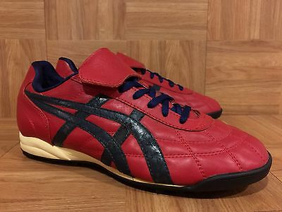 RARE🔥 Asics Onitsuka Tiger 1980's Vintage Made In Bulgaria Red Blue Sz 9