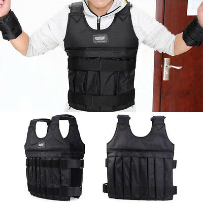20kg Adjustable Weighted Vest Fitness Running Gym Weight Loss Jacket Waistcoat Z