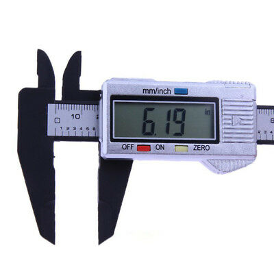 LCD Digital Electronic Carbon Fiber Vernier Caliper Gauge Micrometer 150mm/6inch