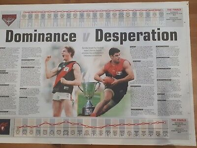 essendon bombers 2000 grand final newspaper liftout
