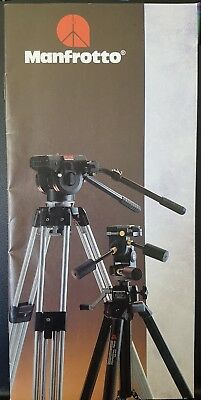 Vintage 1990 Manfrotto Catalogue Guide Photography Camera Parts Accessories