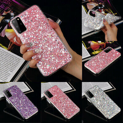 Luxury Bling Glitter Shockproof Soft Silicone Case Cover For Samsung Phones Cute