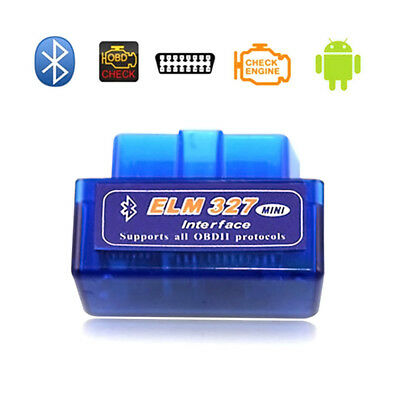 Mini ELM327 OBDII OBD2 Bluetooth Car Auto Scanner Tool  for Android Devices V1.5