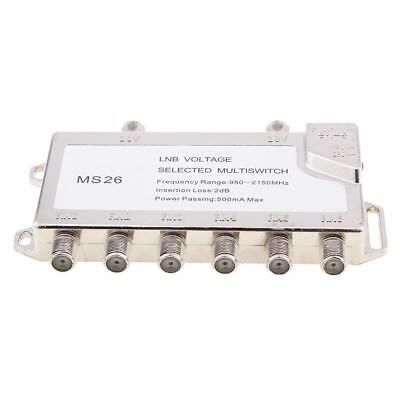 LNB Voltage Selected Multiswitch Diseqc 2 in 6 Out Satellite Switch Signal