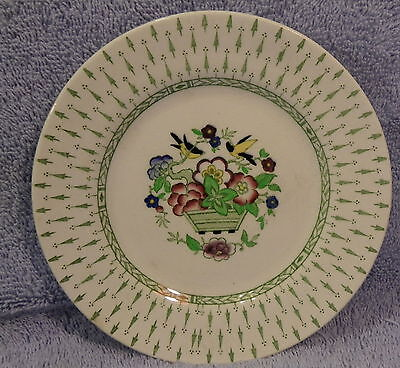 "CLIVE -Whieldon Ware F. Winkle-Lot of 8 Dessert or B&B Plates 5"" Made in England"