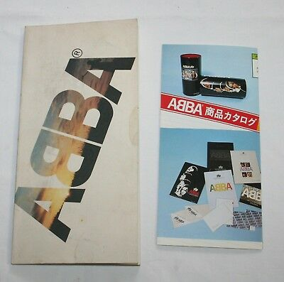 ABBA Vintage Official Promo Book & Flyer 1979 Discomate Japan