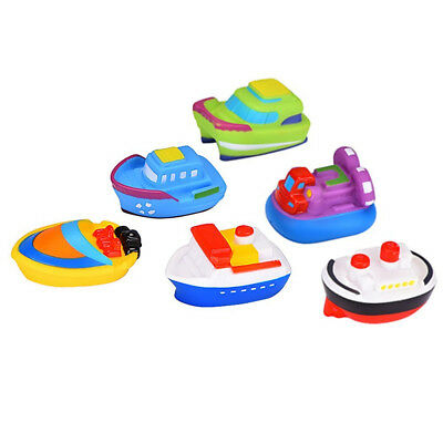 Floating Bath Toy 6 Multi-Coloured Boats Baby Toddler Fun Bathtime Ship Play