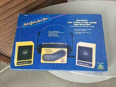 Rare 90S Vintage Solid Gold Rock Star Tape Cassette Player Walkman#Nib PLAYTIME