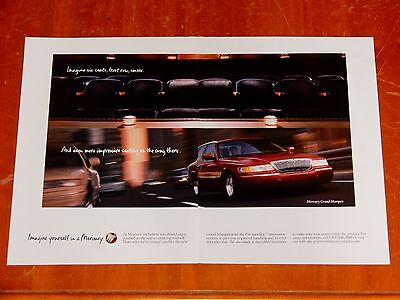 Cool 1998 Mercury Grand Marquis Ad In Red - Retro 90S American