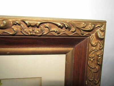 Vintage Ornate Gold Wood Picture Frame