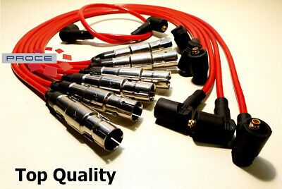 Ignition Leads Red VW Gold Passat Vento 2,8 2,9 VR6 AAA ABV
