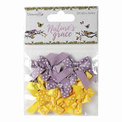 Nature's Grace Mini Polka Dot Bows Dovecraft 20 Pack Scrapbooking Card Craft