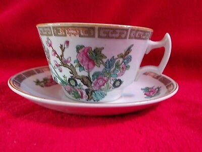 Vintage Indian Tree  Flat cup and saucer China by Wood & Sons Burslem  England