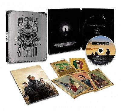 SICARIO Borderline First Limited Edition Blu Ray Steel Book Booklet Card , Japan