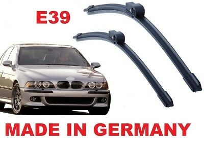 "BMW E39 5 Series 1995-2004 Front Wiper Blade Aero Set 22""+26"" Made in Germany BQ"