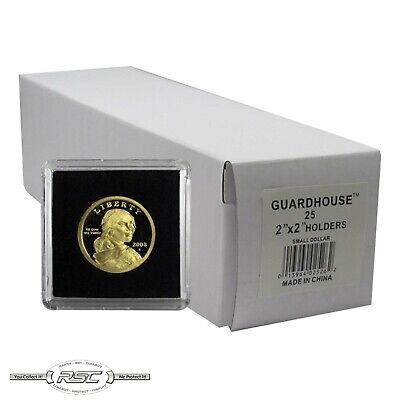 25 - GUARDHOUSE 2x2 TETRA PLASTIC SNAPLOCK COIN HOLDER for SMALL DOLLAR