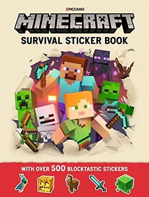 Minecraft Survival Sticker Book: An Official Min by Mojang AB New Paperback Book