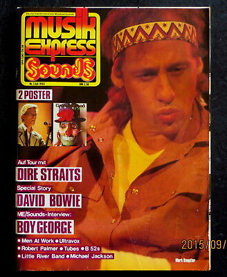 Musik Express Sounds 07/83 Cover:Mark Knopfler; Dire Straits, Story:David Bowie