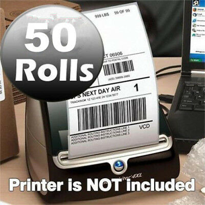 50 Rolls DYMO 4XL Direct Thermal Shipping Postage Labels 4x6 1744907 Compatible