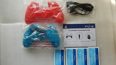 Official Sony PlayStation 4 PS4 Controller V2 Charging Cable & Silicone Case PS4