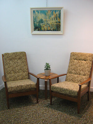 Pair Of Retro Lounge Chairs, Vintage Armchair By Cintique, Refurb Northants