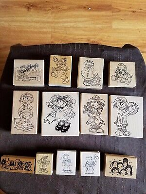 Whimsical Vintage Mounted Rubber Crafting Stamps