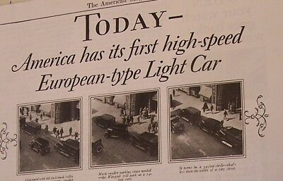 An Original 1926 Whippet Automobile, Magazine Ad