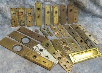 Assorted Door Knob Face Plates East Lake Brass Architectural Salvage Hardware