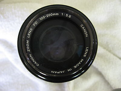 Canon Fd 100-200Mm F5.6 Lens W/filter
