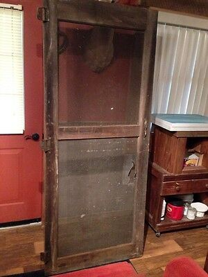 Vintage Antique Primitive Barn Wood  Type Rustic Screen Door