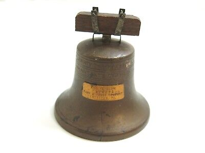 Antique 1919 Ring It Again Farmers Bank Liberty Bell Still Bank By Bankers S&c C