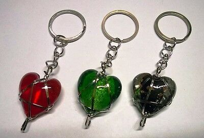 Keyring Heart-Shaped Krapac 621 Resin Coloured Chain Keychain Link