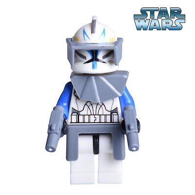 Lego Star Wars Custom Captain Rex Minifigure - Phase I Version