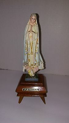 Vintage Very Nice Our Lady Of Fatima Musical Figurine