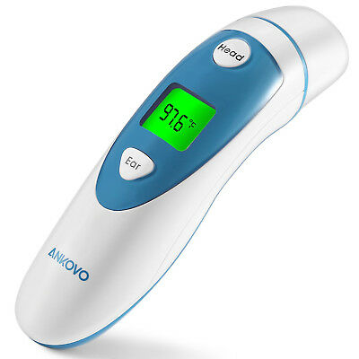 ANKOVO Digital Medical Infrared Forehead and Ear Thermometer for Baby Kids an...