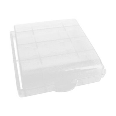 2pcs Clear Plastic Case Holder Storage Box Cover for Rechargeable AA AAA Battery