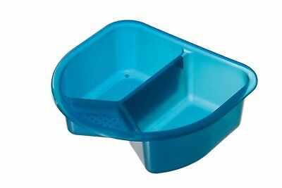 Top and Tail Bowl For Daily Baby Care Two Parts Ergonomical Translucent Blue